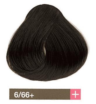 Lakme, Перманентная крем-краска Collage, 60 мл (99 оттенков) 6/66+ Темный блондин интенсивный коричневый яркий lakme перманентная крем краска collage 60 мл 99 оттенков 9 33 светлый блондин интенсивный золотистый яркий