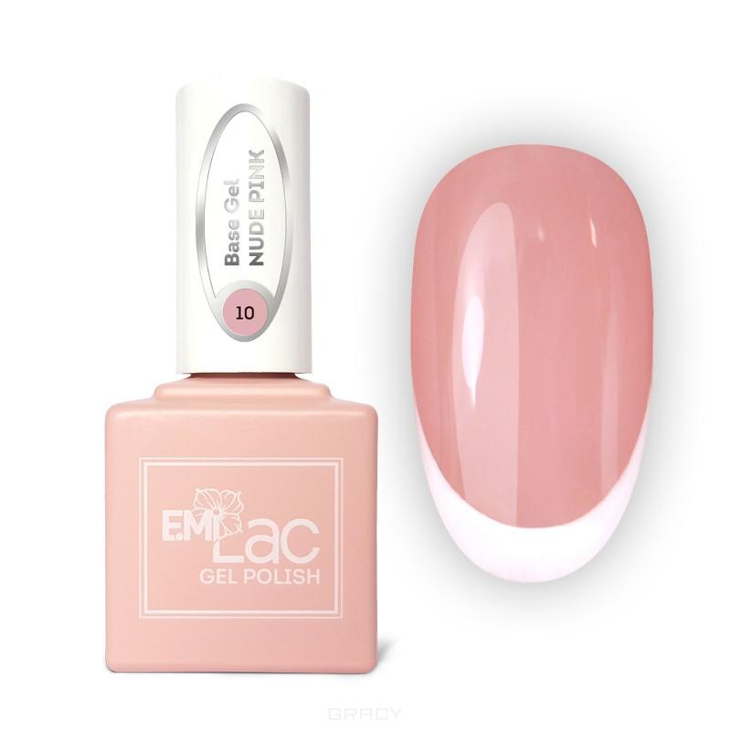 Купить E.Mi, Базовое покрытие для гель-лака Base gel №10 Нюдово-розовый, 9 мл