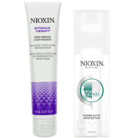 Nioxin, Подарочный набор (Маска для глубокого восстановления волос 150 мл + Термозащитный спрей 150 мл) nioxin 3d styling therm activ protector термозащитный спрей 150 мл