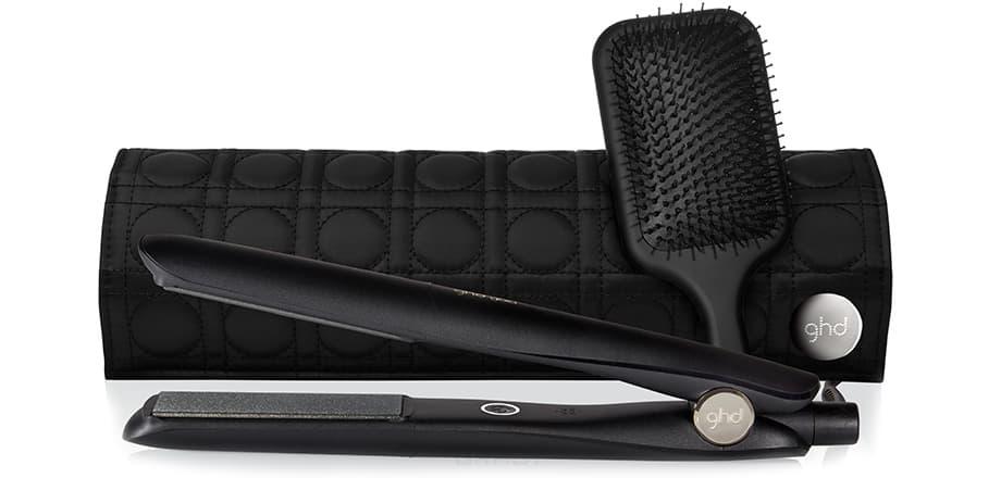 GHD, Набор: стайлер для укладки волос gold+ & термостойкая сумка & плоская щетка & зажимы