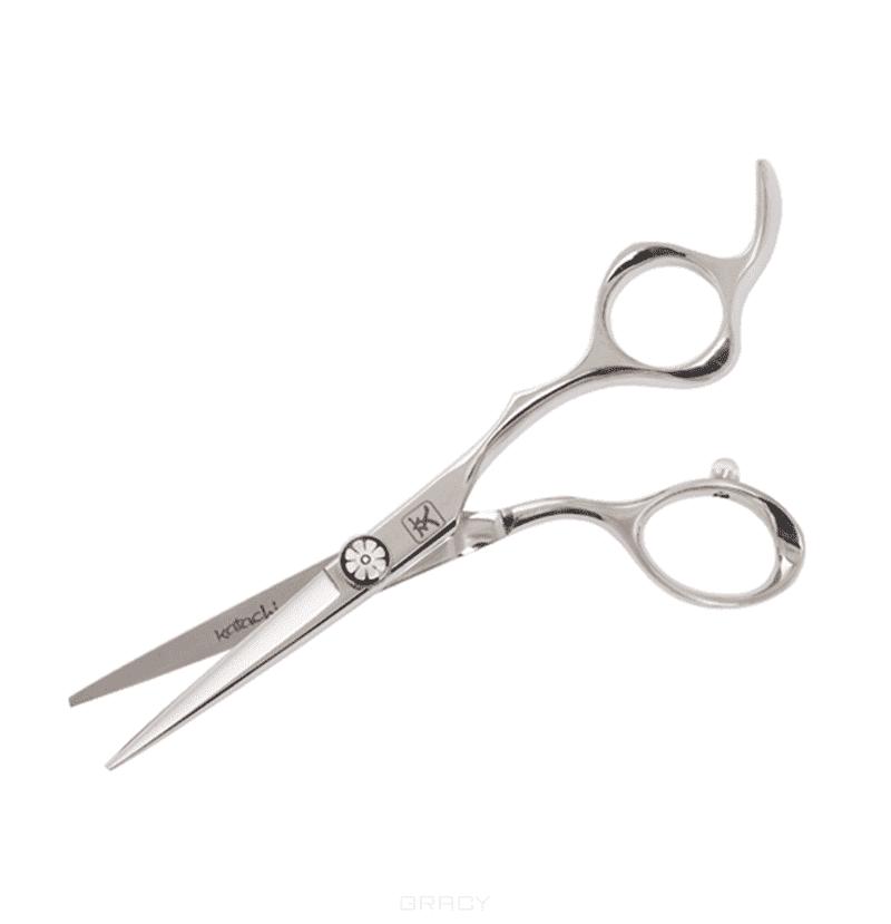 Ножницы для стрижки Katachi Daisy 5.0 K3150Элегантные и эргономичные парикмахерские ножницы Katachi Daisy 5.0&amp;amp;quot; K3150 открывают новую серию высококачественных ножниц, нацеленных на самых требовательных профессионалов-парикмахеров. Серия 3D отличается, прежде всего, высочайшим качеством изготовления, обусловленным многими факторами.&#13;<br> &#13;<br>Режущая кромка аккуратных изящных полотен выведена под углом 38 - для качественного слайсинга и классического среза. Новая винтовая система с невысокой гайкой, оснащена системой Mini-click и позволяет без дополнительных приспособлений отрегулировать натяжение режущих полотен в считанные секунды.&#13;<br> &#13;<br>Отдельного внимания заслуживает эргономика ножниц серии 3D. Великолепно отработанные кольца для большого и безымянного пальца обеспечивают комфорт всей кисти руки при работе. Эргономичный несъёмный упор для мизинца, комфортное расположение колец, продуманная эргономика ручек - всё это в совокупности нацелено на обеспечение стилисту лёгкости и удобства при длительной работе ножницами.&#13;<br> &#13;<br> &#13;<br>  Но...<br>