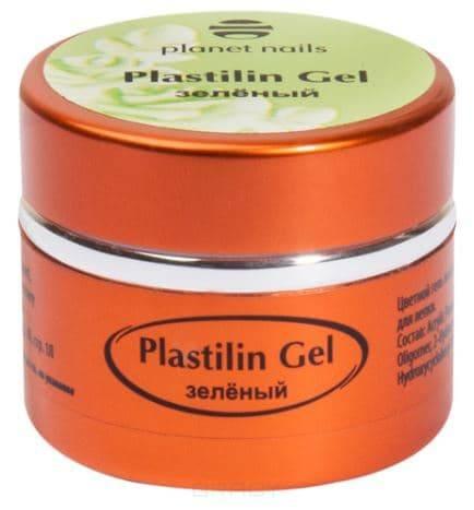 Купить Planet Nails, Гель-пластилин Plastilin Gel Планет Нейлс (8 оттенков), 5 гр зеленый