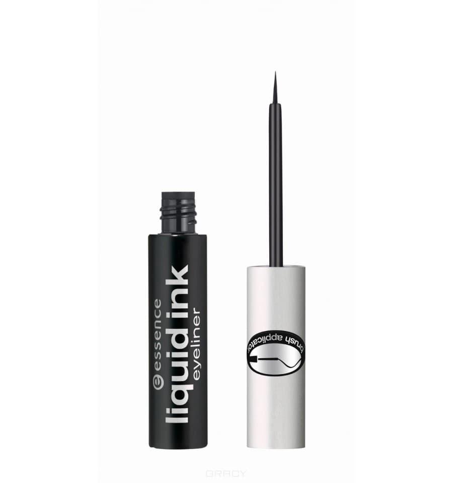 Подводка для глаз Liquid Ink Eyeliner чёрнаяОписание:&#13;<br> &#13;<br> Essence Liquid Ink Eyeliner - это жидкая классическая подводка для глаз. Стильное оформление подводки будет радовать взор своей обладательницы, а тоненькая кисточка сможет подчеркнуть этот взор элегантным контуром. Интенсивный цвет останется таким же насыщенным в течение всего дня, как будто вы только нанесли средство, линия не будет стираться или растекаться. Краска моментально высыхает на веке и не бледнеет, для особой плотности наносите жидкую подводку в два слоя.&#13;<br> &#13;<br> Водостойкая быстросохнущая текстура – главное преимущество подводки от Essence. Кроме того, с инновационной кисточкой Liquid Ink Eyeliner вы сможете нарисовать самую тонкую и изящную контурную линию.&#13;<br> &#13;<br> Способ применения:&#13;<br> &#13;<br> Начните проводить линию от внутреннего угла глаза к внешнему так, чтобы кисточка шла точно вдоль основания ресниц. Для создания экзотического облика продлите линию за пределы века.<br>