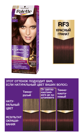 Schwarzkopf Professional, Краска дл волос Palette, 50 мл (29 оттенков) RF3     ГранатОкрашивание Palette, Perfect Mousse, Brilliance, Color Mask, Million Color, Nectra Color, Men Perfect<br><br>
