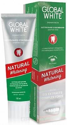 Купить Global White, Зубная паста Натуральное отбеливание, энергия трав Natural Whitening, 100 мл