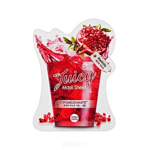 Holika Holika, Маска тканевая для лица Сок Граната Pomegranate Juicy Mask Sheet, 20 млМаски для лица<br><br>