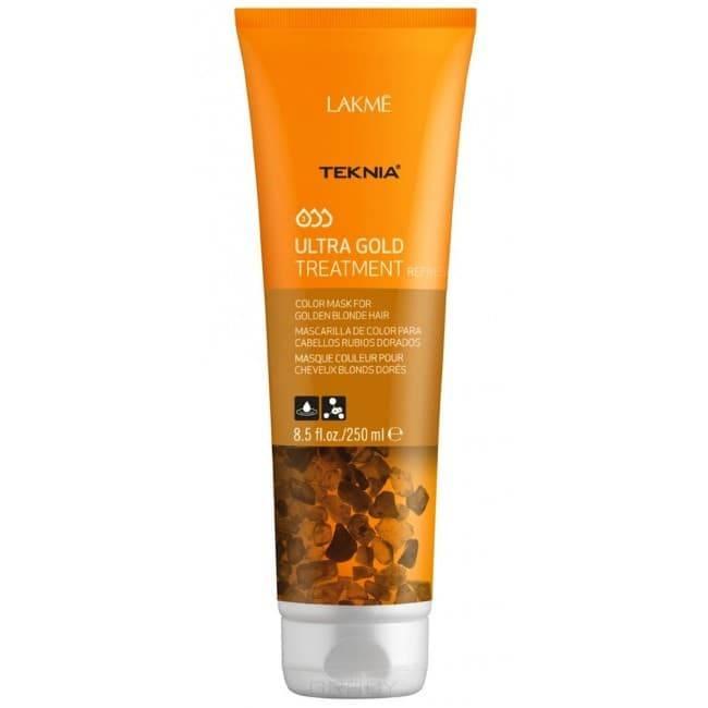 Средство для поддержания оттенка окрашенных волос Золотистый Teknia Ultra gold treatment refresh, 250 млВосстанавливает и защищает волокна волос.&#13;<br>  &#13;<br>Придает интенсивный блеск и продлевает насыщенность цвета.&#13;<br>  &#13;<br>&#13;<br>    &#13;<br>  Активные вещества:&#13;<br>  &#13;<br>-Экстракт янтаря.Оказывает антиоксидантное действие, защищает от стресса, вызванного воздействием окружающей среды, и свободных радикалов. Результат: мягкие, легко укладывающиеся волосы с насыщенным цветом.&#13;<br>  &#13;<br>-Ceramide Rebuild System. Действует как клеточный цемент волокон кератина и улучшает структуру поврежденных волос. Результат: восстанавливает волокно волос изнутри&#13;<br>  &#13;<br>-Катионные красителипридают цвет. Результат: волосы вновь обретают яркий цвет и богатство оттенков.&#13;<br>  &#13;<br>&#13;<br>  &#13;<br>Содержит WAA :Натуральные аминокислоты пшеницы, ухаживающие за волосами изнутри. Комплекс с высокой увлажняющей способностью. Аминокислоты глубоко проникают в волокна волос и увлажняют их, восстанавливая оптимальный уровень увлажнения. Волосы вновь обретают равновесие, а также блеск, мягкость и гибкость, присущие здоровым волосам.&#13;<br>  &#13;<br>&#13;<br>  &#13;<br>Без парабенов...<br>
