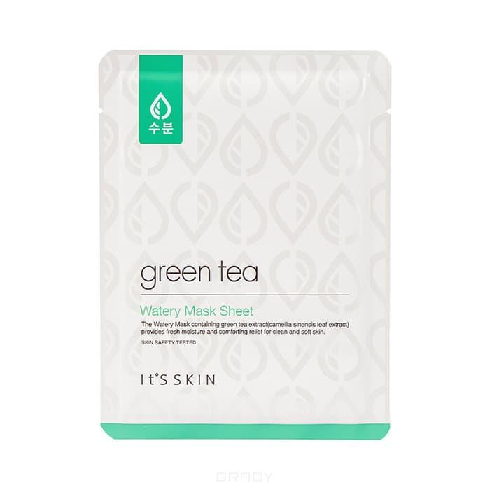 It's Skin, Green Tea Watery Mask Sheet Тканевая маска для жирной и комбинированной кожи Итс Скин Зеленый чай, 17 г маска it s skin the fresh mask sheet tea tree