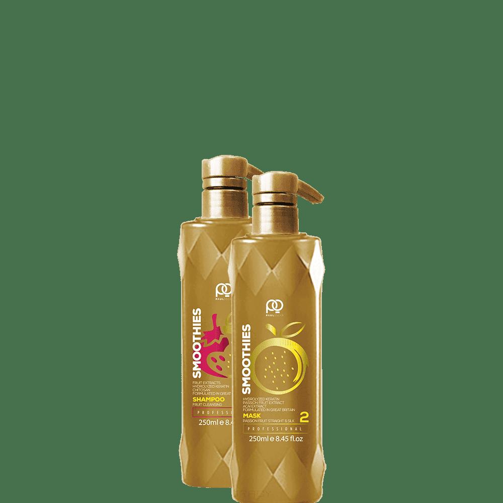 Купить Paul Oscar, Набор для кератинового выпрямления Smoothies Smooth & Silky Passion Fruit, 250/250 мл