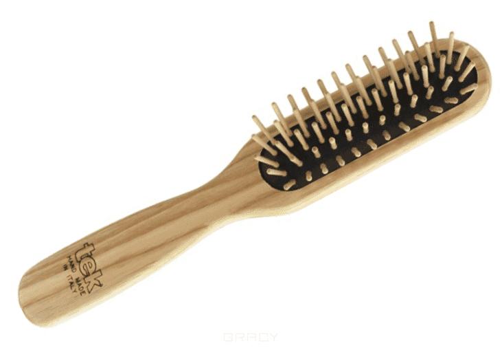 Щетка массажная прямоугольная 5 рядов деревянная, 162003 eurostil щетка массажная деревянная прямоугольная 00148 щетка массажная деревянная прямоугольная 1 шт