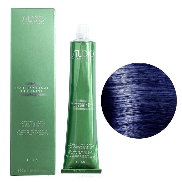 Kapous, Крем-краска для волос с экстрактом женьшеня и рисовыми протеинами Studio Professional, 100 мл (2 оттенка), 100 мл, 07 усилитель синий цены онлайн