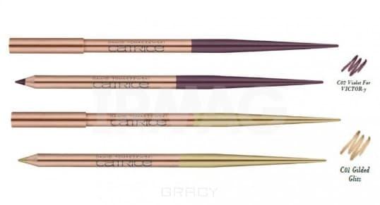 Catrice, Карандаш для губ и глаз Lip & Eye Pencil (2 оттенка), 1 шт, тон С01 Gilted Glitz catrice карандаш для губ longlasting lip pencil 7 оттенков тон 100 нежно коричневый upper brown side 1 шт