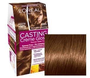 L'Oreal, Краска для волос Casting Creme Gloss (37 оттенков), 254 мл 603 Шоколадный миндаль l oreal краска для волос casting creme gloss 37 оттенков 254 мл 8304 карамельный капучино