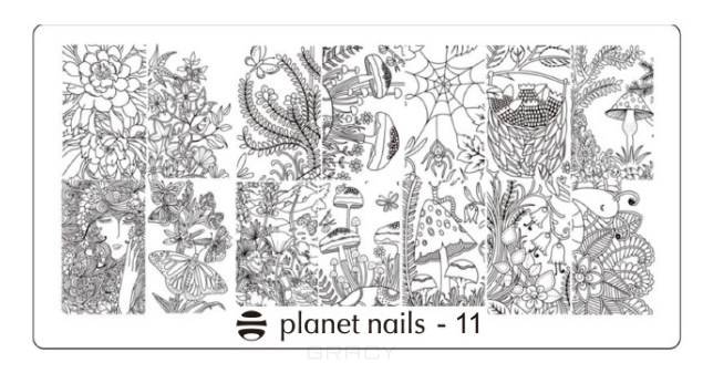Planet Nails, Пластина для Stamping Nail Art (15 видов) Пластина для Stamping Nail Art - 11 waterpulse professional oral care teeth cleaner irrigator electric oral irrigator dental flosser