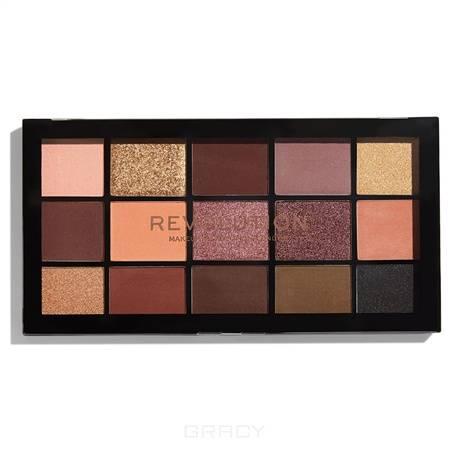 Купить MakeUp Revolution, Палетка теней для век Re-loaded Palette, 15 оттенков (6 вариантов) Velvet Rose