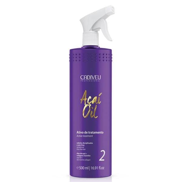 Купить Cadiveu Professional, Acai Therapy Oil Кератин для восстановления волос Кадевью Active Liquid, 500 мл