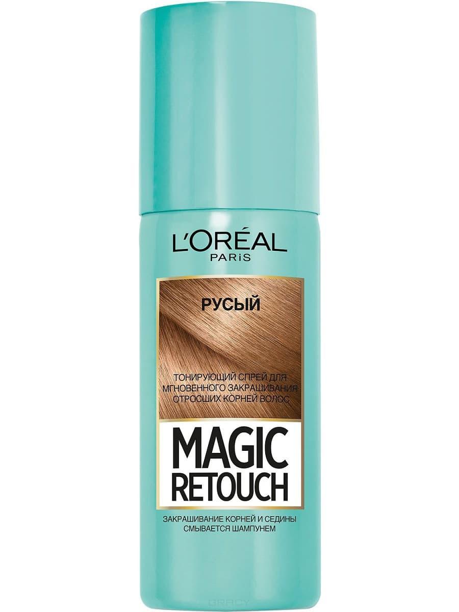 L'Oreal, Краска спрей в баллончиках Magic Retouch, 75 мл (7 оттенков) 4 Русый краска для авто в баллончиках