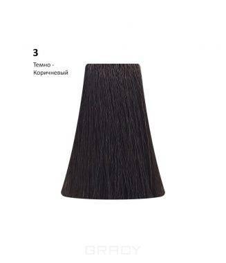 Купить BB One, Перманентная крем-краска Picasso Colour Range без аммиака (76 оттенков) 3 Dark Brown/Темно-Коричневый