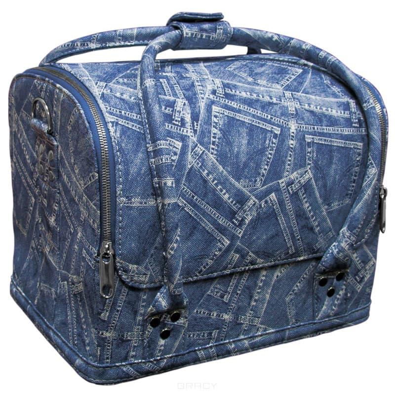 Planet Nails, Сумка-чемодан (2 цвета), 1 шт, ДжинсЧемоданы и сумки профессиональные<br><br>
