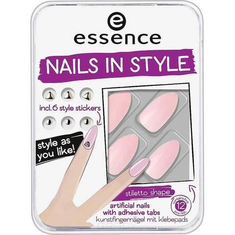 Essence, Накладные ногти на клейкой основе Nails In Style (6 вариантов) №03, розовые