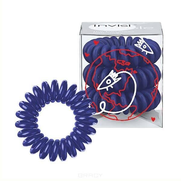 Резинка для волос темно-синяя Universal Blue (3 шт.)Резинка-браслет Invisibobble   модный и стильный аксессуар, который всегда будет у вас под рукой. Invisibobble покорил многих девушек по всему миру своей функциональностью и яркостью палитры. С такой резинкой можно сделать множество интересных причесок и невозможно остаться незамеченной. &#13;<br>Резиночка Invisibobble устроена так, что не повреждает волосы Не оставляет следов перегиба на ваших волосах после применения Удобство использования при занятиях спортом или на отдыхе Резинка водоотталкивающая, легко снимается/надевается, в то же время крепко держит созданную прическу Восстанавливает свою изначальную форму Может использоваться как браслет Используя Invisibobble не возникнет ощущение головной боли, потому что она не тянет за собой отдельные волоски благодаря своей оригинальной форме.&#13;<br> &#13;<br>Подходит для всех типов волос<br>