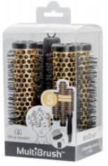 Olivia Garden, Набор брашингов для укладки волос со съемной ручкой в комплекте размер S MultiBrush, 4 шт/уп фото