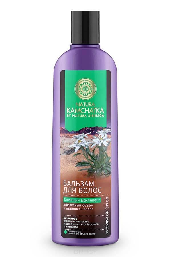 Бальзам «Снежный бриллиант» эффектный объем  и пышность волос Kamchatka, 280 млОписание:&#13;<br> &#13;<br> Natura Kamchatka Бальзам Снежный Бриллиант Эффектный объем и пышность волос, 280 мл.Камчатский подснежник обладает поразительной жизненной силой и энергией. Это удивительное растение весь год накапливает питательные вещества, чтобы зацвести ранней весной. Благодаря высокой концентрации растительных полисахаридов - в 3 раза больше, чем в сахарном тростнике- камчатский подснежник устойчив к морозам и способен расти даже под снегом. Комплекс полисахаридов создает защитную пленку, удерживая влагу внутри стержня волоса, защищая от пересыхания и ломкости.Сибирский эдельвейс вбирая в себя всю силу богатых минералами вулканических почв, обладает свойством активной стимуляции роста волос и борьбы с их выпадением. В результате волосы приобретают густоту и роскошный объем. Ультралегкая формула без SLS, силикона и парабенов не утяжеляет волосы. &#13;<br> &#13;<br> Особенности состава:&#13;<br> &#13;<br> Ультралегкая формула без SLS, силикона и парабенов не утяжеляет волосы. (*) - органические ингредиенты (WH...<br>