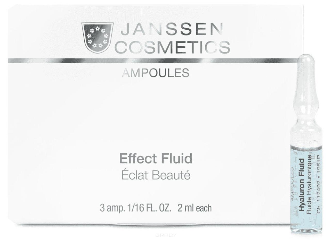 Janssen, Ультраувлажняющая сыворотка с гиалуроновой кислотой Hyaluron Fluid, 3х2 мл janssen cosmetics hyaluron fluid сыворотка ультроувлажняющая с гиалуроновой кислотой в ампуле 2 мл