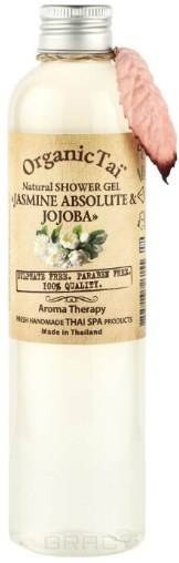 Купить Organic Tai, Гель для душа Natural Shower Gel Jasmine Absolute & Jojoba , 260 мл