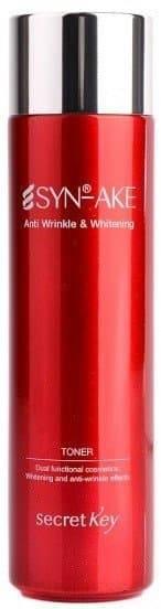 Secret Key, SYN-AKE Anti Wrinkle & Whitening Toner Антивозрастной тоник для лица с пептидом, 150 мл