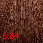 Купить Kaaral, Крем-краска для волос Baco Permament Haircolor, 100 мл (106 оттенков) 6.84 темный коричнево-медный блондин