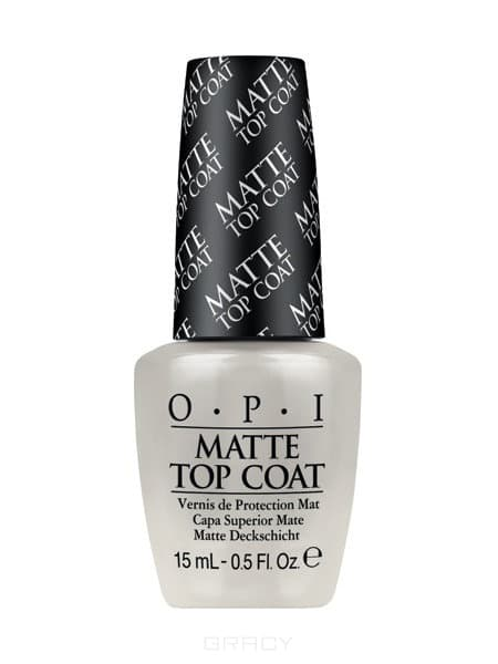OPI, Покрытие верхнее для создания матового эффекта Matte Top-Coat, 15 мл qibest 23colors set brand makeup matte proof lipstick long lasting effect soft waterproof matte lipsticks lip easy to wear