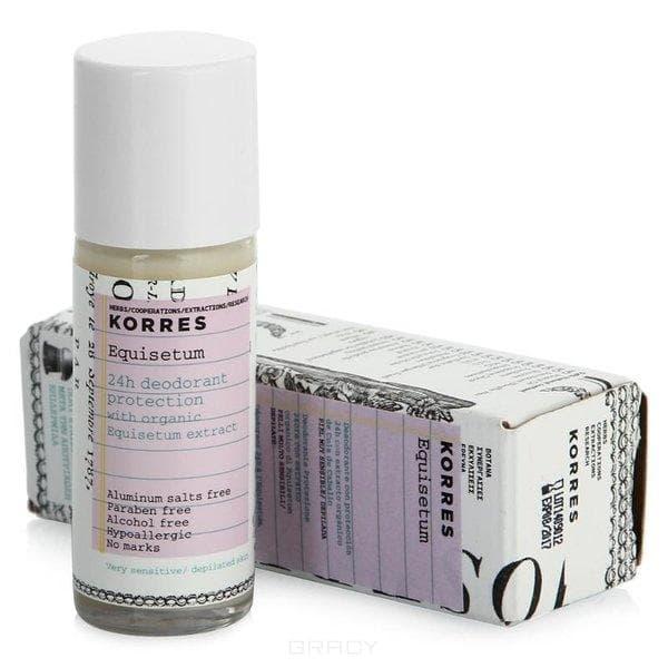 Korres, Дезодорант с экстрактом хвоща для очень чувствительной кожи 24 часа, 30 мл дезодорантантиперспирант с экстрактом хвоща для чувствительной кожи 48 часов 30 мл korres korres для тела
