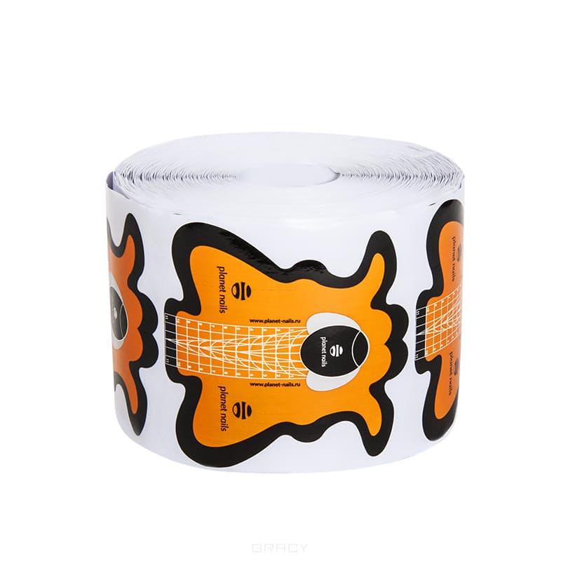 Planet Nails, Формы для наращивания Стилеты оранжевые, 500 шт/уп planet nails салфетки х б лигнина 500 шт рулон