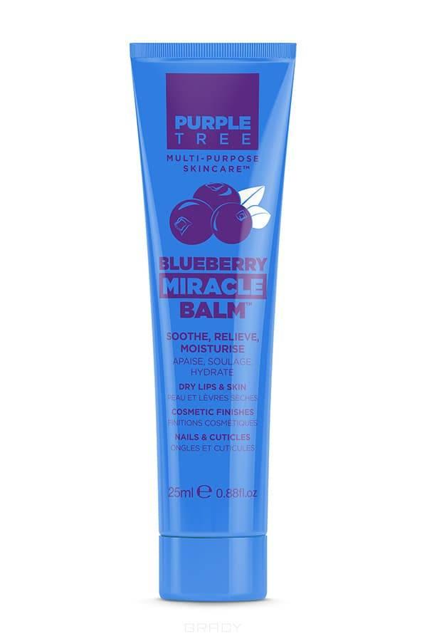 Purple Tree, Бальзам для губ Черника Miracle Balm Blueberry Перпл Три, 25 мл