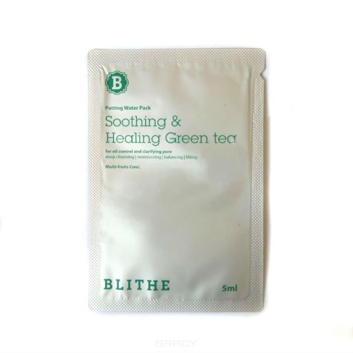 Blithe, Сплэш-маска для восстановления «Смягчающий и заживляющий зеленый чай», sample, 5 мл blithe energy yellow citrus and honey сплэш маска для сияния энергия цитрус и мед 200 мл