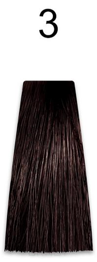 Купить Kaaral, Стойкая безаммиачная крем-краска с гидролизатами шелка Baco Soft Ammonia Free, 60 мл (42 оттенка) 3 темный каштан