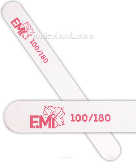 Купить E.Mi, Пилка для ногтей белая 100/180