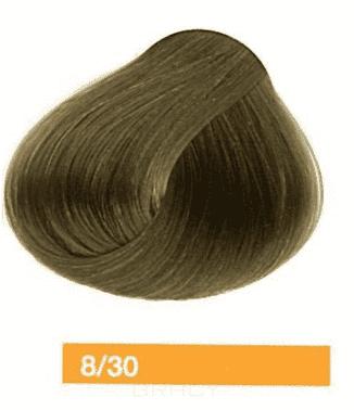 Купить Lakme, Перманентная крем-краска Collage, 60 мл (99 оттенков) 8/30 Блондин золотистый
