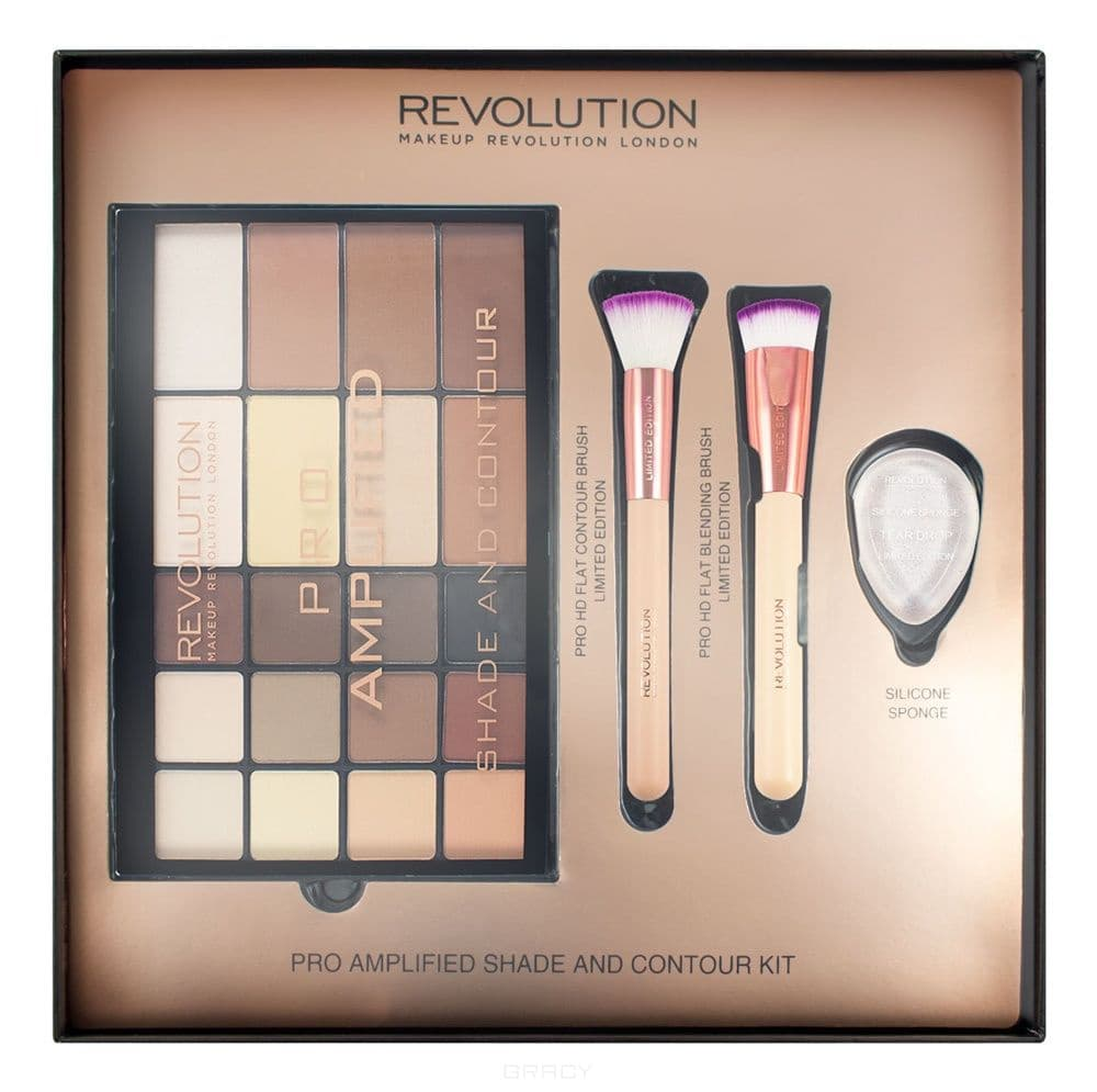 MakeUp Revolution, Набор для макияжа Pro Amplified Shade and Contour фото