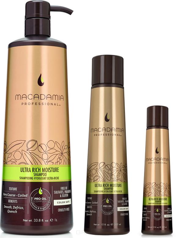 Купить Macadamia Natural Oil, Шампунь увлажняющий для жестких волос Ultra Rich Moisture Shampoo, 300 мл