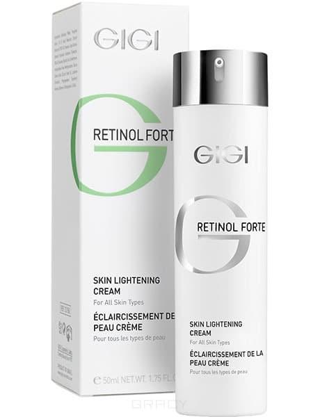 Крем отбеливающий Retinol Forte Skin Lightening Cream, 50 млВысокоэффективный крем с максимальным процентным содержанием активных веществ. Крем основан на натуральных растительных ингредиентах, не оказывает токсического действия.&#13;<br>&#13;<br>Действие:&#13;<br>&#13;<br>Быстро и стойко выравнивает тон кожи, отбеливает очаги гиперпигментации любого происходжения: хлоазмы, мелазмы, веснушки, поствоспалительные и посттравматические пятна после серединных и глубоких пилингов, шлифовок и пластических операций. Арбутин, получаемый из экстракта толокнянки, и койевая кислота ингибируют фермент тирозиназу, который участвует в синтезе меланина. Аскорбилфосфат магния и ретинол подавляют меланогенез, стимулируют клеточное обновление и омоложение кожи. Гликолевая кислота отшелушивает роговой слой эпидермиса, осветляет и выравнивает тон, стимулирует синтез коллагена. Азелаиновая кислота оказывает депигментирующее, антибактериальное действие, снижает гиперфункцию сальных желез. Витамин Е, метабисульфит и сульфанилат натрия оказывают противовоспалительное и антиоксидантное действие...<br>