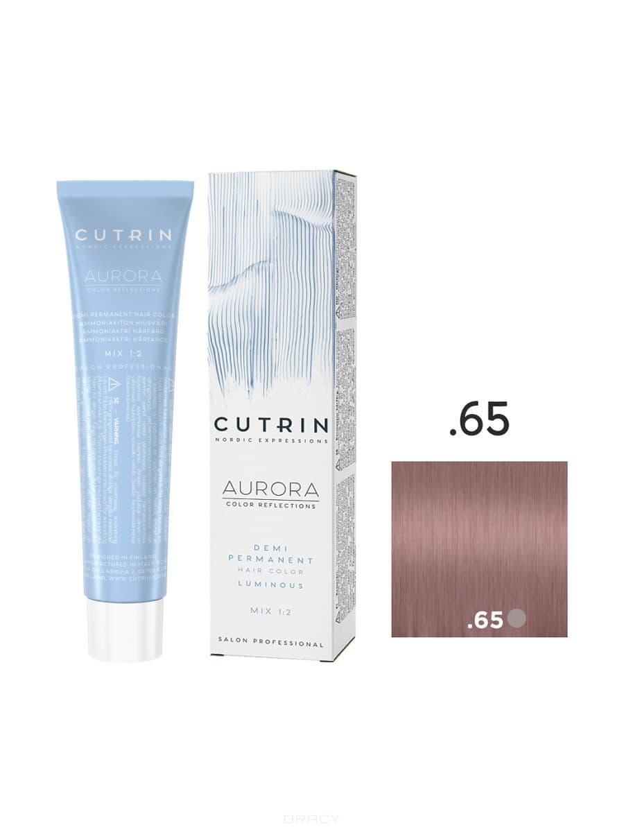 Купить Cutrin, Безаммиачная краска Aurora Demi (Новый дизайн Reflection Demi), 60 мл (55 оттенков) .65 Ледяная клубника