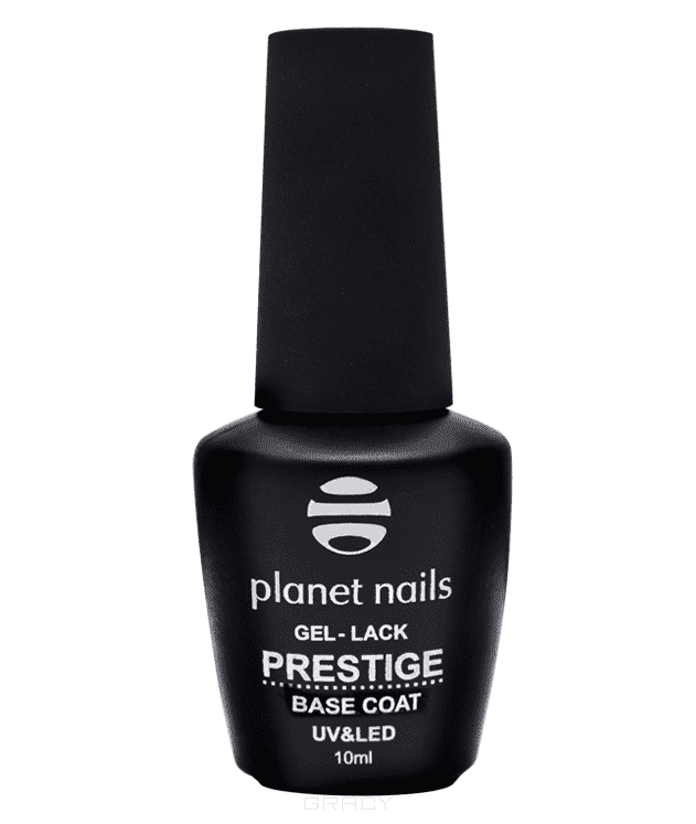Гель-лак Prestige Base, 10млПрофессиональный гель-лак Planet Nails. &amp;amp;quot;PRESTIGE&amp;amp;quot;&#13;<br>&#13;<br>BASE:&#13;<br>      &#13;<br>    - каучуковая база&#13;<br>    &#13;<br>  - густая консистенция&#13;<br>    &#13;<br>  - выравнивает ногтевую пластину&#13;<br>    &#13;<br>  - подходит для ремонта и укрепления ногтей&#13;<br>&#13;<br>TOP:&#13;<br>    &#13;<br>  - завершающее покрытие&#13;<br>    &#13;<br>  - устойчивый блеск&#13;<br>    &#13;<br>  - сохраняет яркость цвета&#13;<br>    &#13;<br>  - защищает от сколов&#13;<br>&#13;<br>Требование к лампам для полимеризации:&#13;<br>    &#13;<br>  UV 90 секунд&#13;<br>    &#13;<br>  LED 30 секунд&#13;<br>&#13;<br>Инструкция по нанесению:&#13;<br>&#13;<br>&#13;<br>  Подготовьте ногтевую пластину, снимите глянец бафом и обезжирьте&#13;<br>&#13;<br>  Нанесите праймер&#13;<br>&#13;<br>  Нанесите базовое покрытие &amp;amp;quot;BASE COAT&amp;amp;quot; и просушите в лампе&#13;<br>&#13;<br>  Тонким слоем нанесите цветное покрытие и просушите в лампе&#13;<br>&#13;<br>  Нанесите второй слой цвета и просушите в лампе&#13;<br>&#13;<br>  Нанесите финишное покрытие &amp;amp;quot;TOP COAT&amp;amp;quot; и просушите в лампе&#13;<br>&#13;<br>  Удалите липкий слой&#13;<br>&#13;<br>&#13;<br>Удаление гель-лака:&#13;<br>    &#13;<br>   Смочите ватный спонж жидкостью для снятия гель-лака&#13;<br>    &#13;<br>  •Оберните фольгой каждый ноготь и оставьте на...<br>