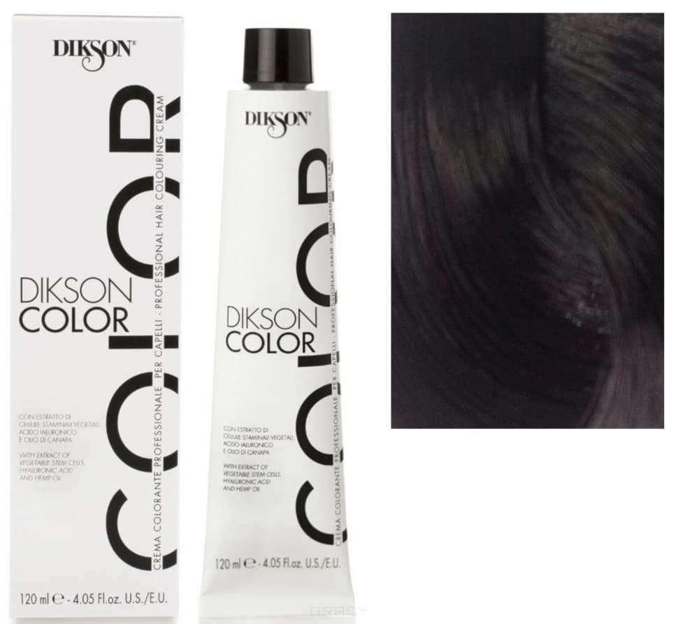 Купить Dikson, Краска для волос Color Extra Premium, 120 мл (44 тона) 2NV Кофейный