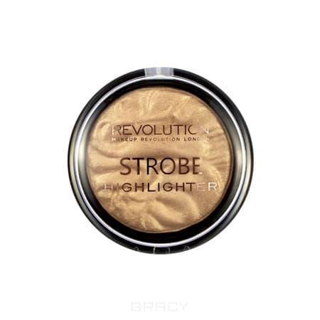 MakeUp Revolution, Хайлайтер для лица Strobe Highlighter, 7.5 гр (6 оттенков) Gold Addict addict 2