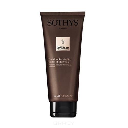 Sothys, Ревитализирующий гель-шампунь для волос и тела, 200 мл sothys homme hair and body revitalizing gel cleanser ревитализирующий гель шампунь для волос и тела 250 мл