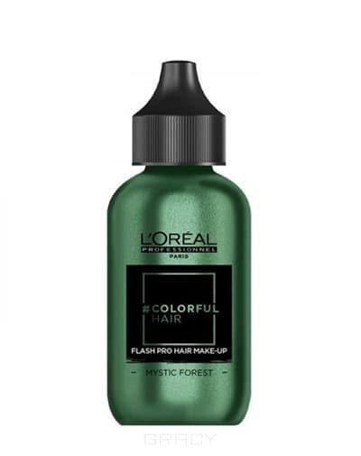 L'Oreal Professionnel, Краска-макияж для волос Colorful Hair Flash, 60 мл (11 оттенков) Таинственный лес краска для волос l oreal professionnel colorful hair электрический лиловый