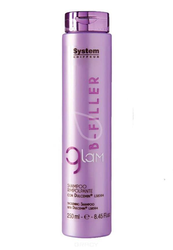 Уплотняющий шампунь для сухих, ломких и поврежденных волос с комплексом Glam B-Filler Dulcemin LS8594Мягкий очищающий шампунь с кремовой консистенцией идеален для сухих, ломких и поврежденных волос. Шампунь обогащен Dulcemin LS8594, гликопротеином, полученным из сладкого миндаля и обладающим увлажняющими, смягчающими и питательными свойствами. Glam B-Filler шампунь является первой фазой интенсивного уплотняющего ухода, благодаря которому даже сильно поврежденные волосы будут легко расчесываться, приобретут плотность и объем. Для оптимальных результатов продолжите уход с другими продуктами линии Glam B-Filler.&#13;<br> &#13;<br>Применение: нанести на влажные волосы и мягко помассировать. Тщательно смыть. При необходимости повторить.<br>