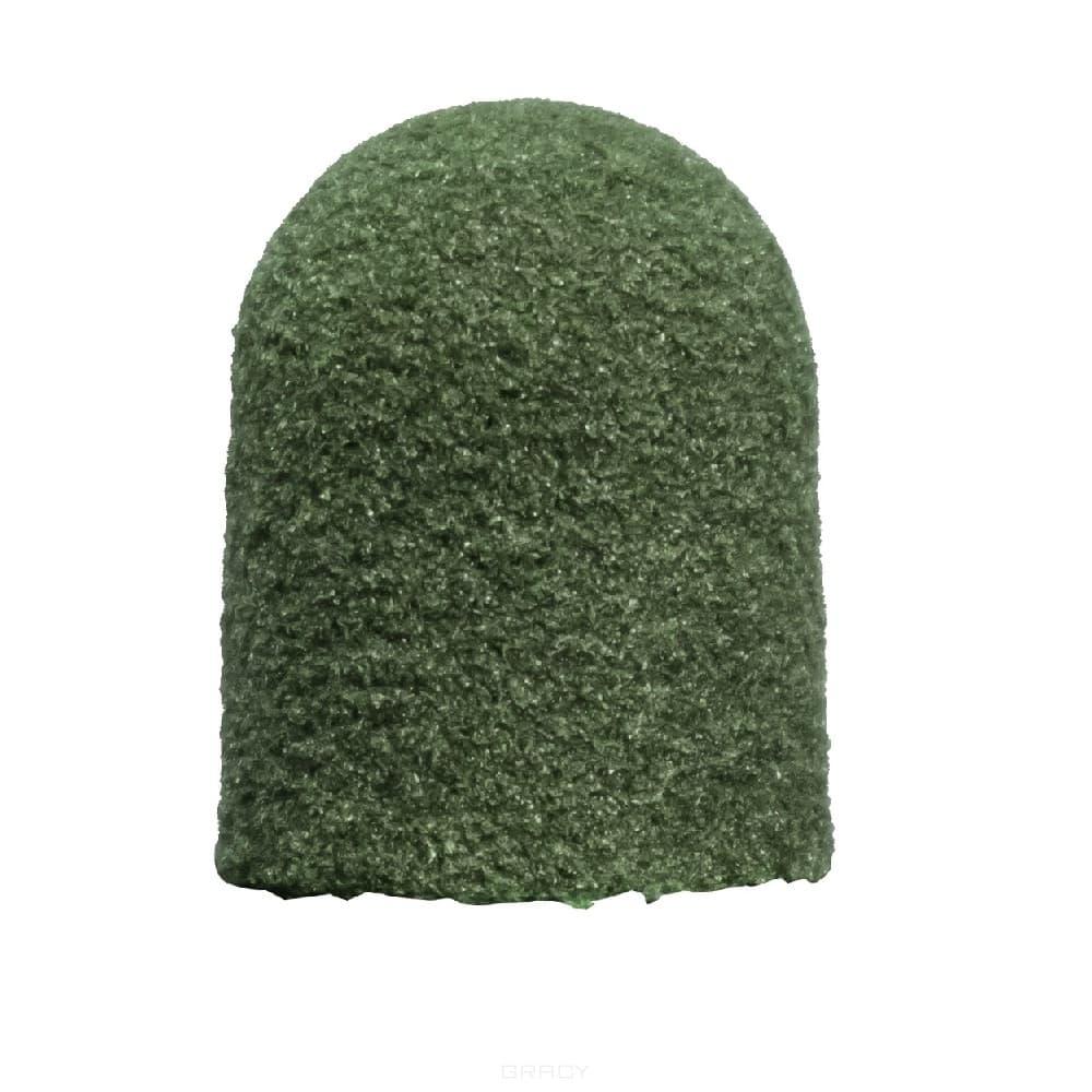 Lukas, Одноразовый колпачок абразивный зелёный, 10шт (2 вида), 10 шт. фото